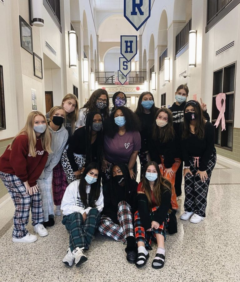 Reedy STUCO puts drugs to sleep on Pajama Day.
