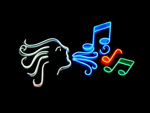 Neon Music Sign