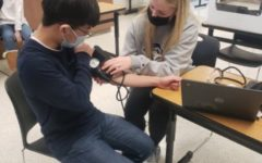 In Person Students Practice Vital Signs LAb